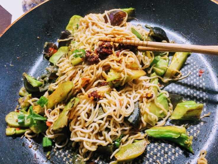 Broccoli Century Egg Noodles
